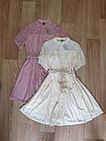 Летнее ажурное гипюровое платье свободного кроя на пуговках, 4цвета  р.42-46 код 582Т, фото 5