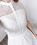 Летнее ажурное гипюровое платье свободного кроя на пуговках, 4цвета  р.42-46 код 582Т, фото 8