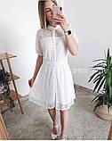 Летнее ажурное гипюровое платье свободного кроя на пуговках, 4цвета  р.42-46 код 582Т, фото 9