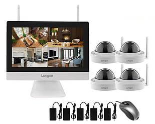 Комплект видеонаблюдения wifi 4 камеры Longse WIFI3604MD4SW200 (100529)