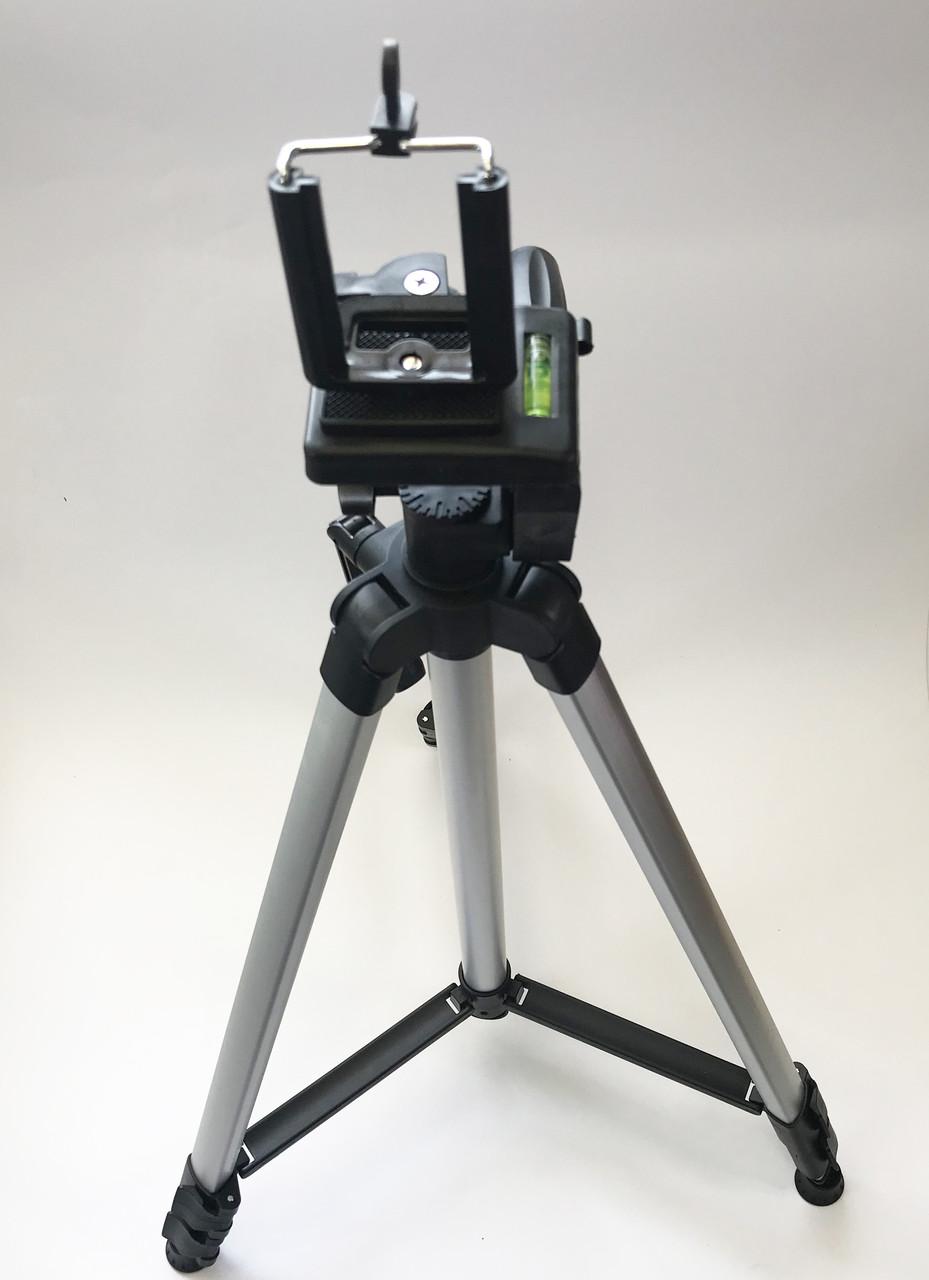 Штатив профессиональный для фотоаппарата и смартфона трипод 330А Алюминиевый 52-135 см + чехол