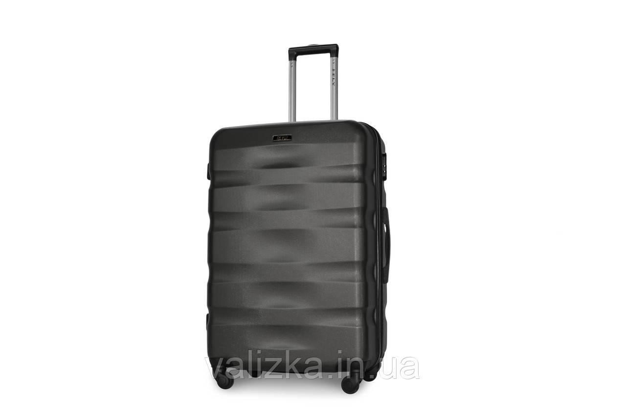 Большой пластиковый чемодан темно-серый Fly 960