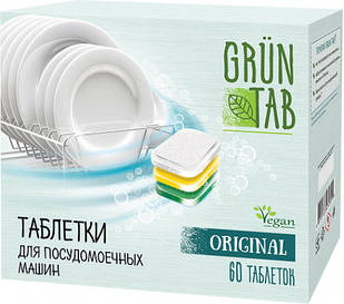 Таблетки для посудомоечных машин Grun Tab Original 60 шт (ііівау789)