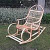 Плетеная кресло-качалка из лозы
