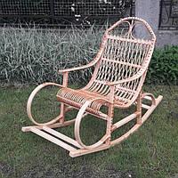 Плетеная кресло-качалка из лозы, фото 1