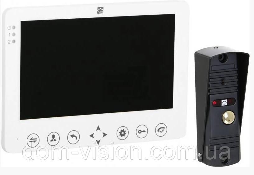 Комплект Видеодомофон  DOM D7 (белый ,черный)
