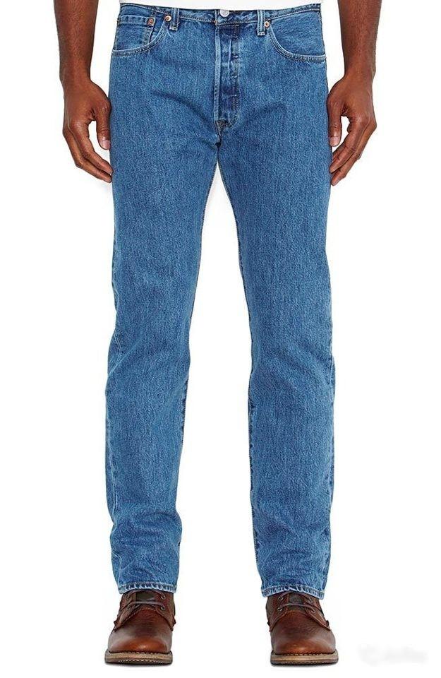 Джинсы Levi's 501 Original Fit Medium Stonewash Синие (005010193)