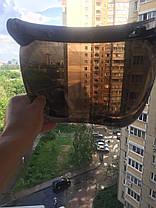 Зеркальный бабл визор под мото шлем каску ретро Полулицевик, фото 3