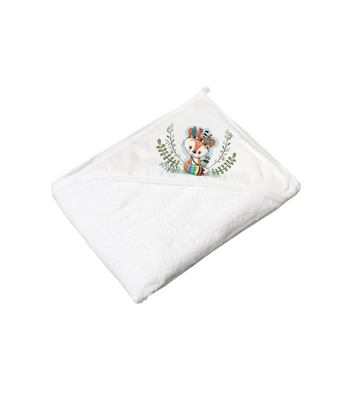 Полотенце махра Tega Дикий запад Fox white 100*100 см