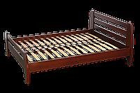 "Двуспальная кровать ІМІЛАР ""Нова"" 2000х1800  бук, темный орех"