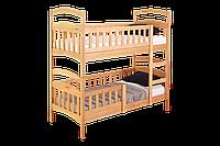 """Двухъярусная кровать ІМІЛАР """"Рута-Люкс""""  с комплектом ящиков 1900х800 бук, светлый орех"""
