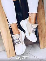 Бежево-белые кроссовки 37 размер, фото 1