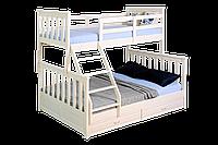 """Двухъярусная кровать ІМІЛАР """"Лотос-2"""" 1900х1400(900)  сосна, белая"""