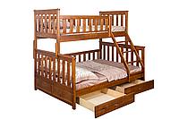 "Двухъярусная кровать ІМІЛАР ""Лотос-1"" 2000х1400(900)  сосна, светлый орех"