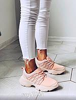 Розово-персиковые кроссовки 40 размер, фото 1