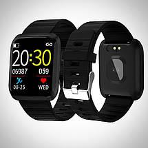 Умные часы фитнес браслет Smart Band 116 Plus с тонометром и измерением пульса, фото 3