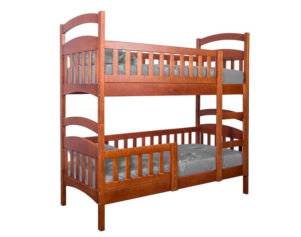 """Двухъярусная кровать ІМІЛАР """"Рута-Люкс""""  с комплектом ящиков 1900х900 сосна, темный орех"""