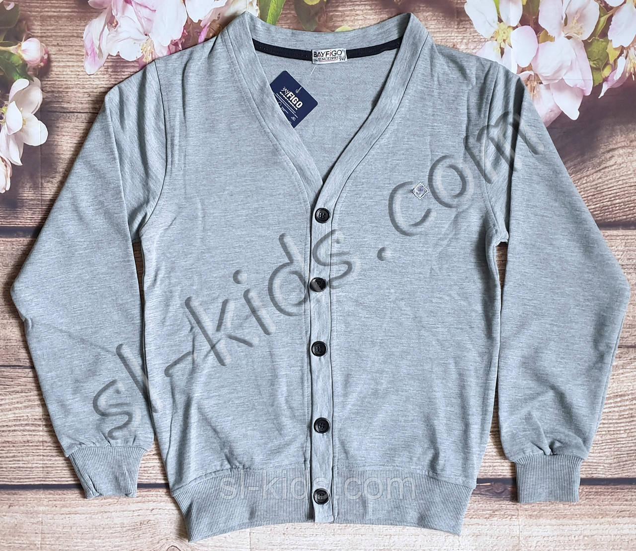 Кардиган FIGO для мальчика 110-128 см (серый)(розница) (пр. Турция)
