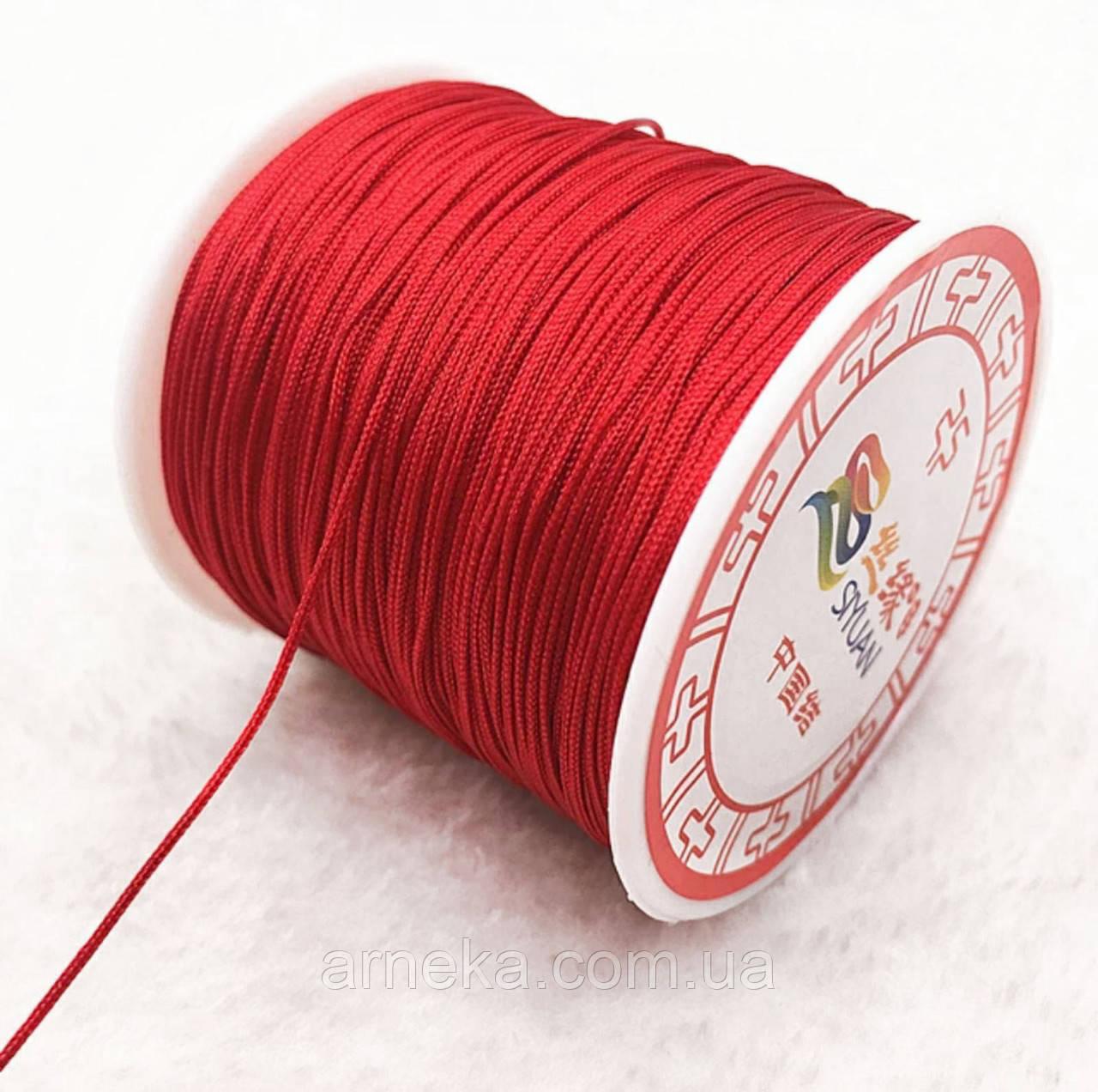 Шнурок красный нейлон 1,5 мм
