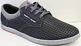 Туфли мужские на шнурках летние кожаные от производителя модель ИШ104-1, фото 2