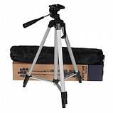 Штатив профессиональный для фотоаппарата и смартфона трипод 330А Алюминиевый 52-135 см + чехол, фото 10