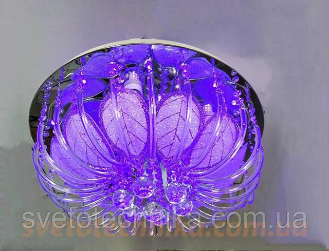 Люстра светодиодная с пультом стекло RGB