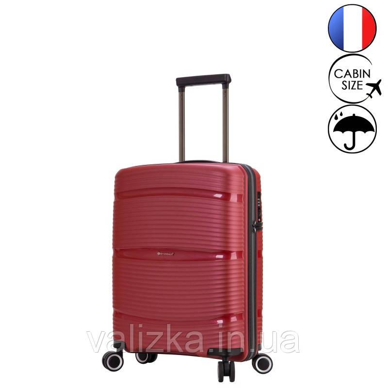 Маленький пластиковый чемодан из полипропилена красный ручная кладь Snowball Франция