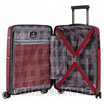 Маленький пластиковый чемодан из полипропилена красный ручная кладь Snowball Франция, фото 2