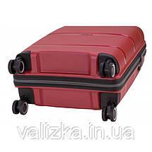 Маленький пластиковый чемодан из полипропилена красный ручная кладь Snowball Франция, фото 3