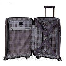 Маленький пластиковый чемодан из полипропилена серый ручная кладь Snowball Франция, фото 3