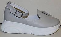 Лоферы женские туфли с ремешком на платформе от производителя модель ЛД109-5
