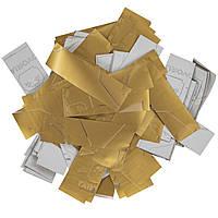 Конфетти-Метафан ЛК625 Золото-Белый Матовый 2х2 1кг, фото 1