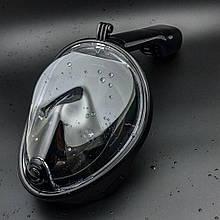 Панорамна (повна) маска для снорклінга Freebreath, black S/M, hm