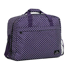 Сумка дорожная Members Essential On-Board Travel Bag 40 Purple Polka  + БЕСПЛАТНАЯ ДОСТАВКА ПО УКРАИНЕ