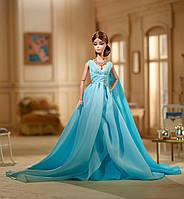 Коллекционная кукла Барби в голубом шифоновом платье Barbie Blue Chiffon Ball Gown Silkstone SKL52-239465