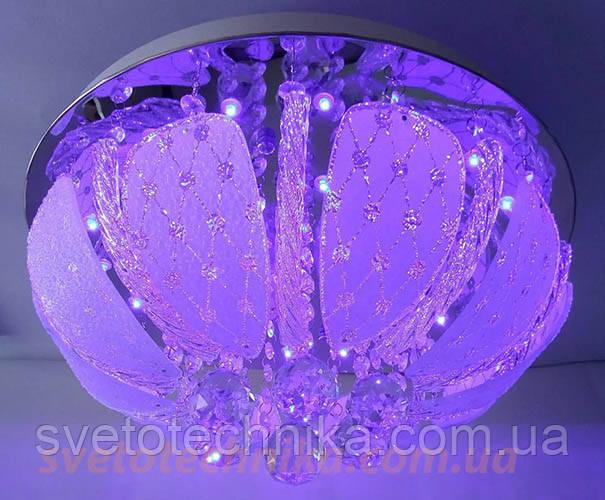 Люстра торт на 3 лампочки с LED подсветкой А7125_300