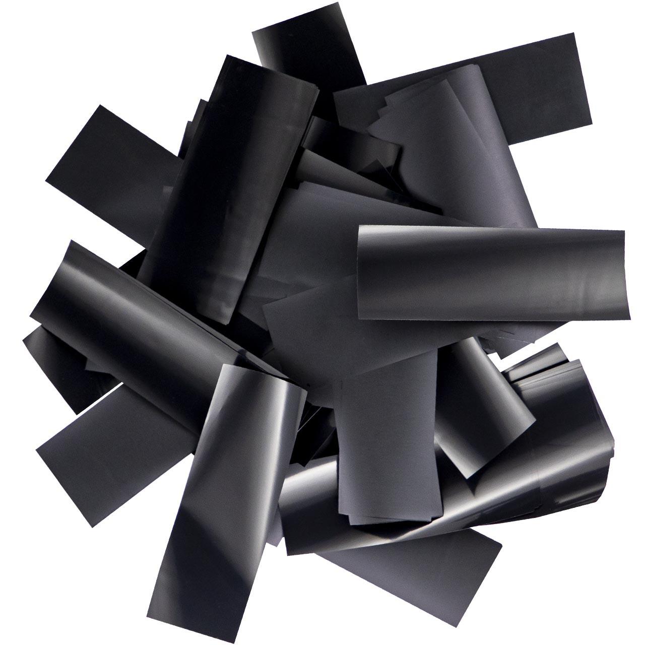 Конфетти-Метафан Черный Премиум 2.5х6 (пленочный) 1кг