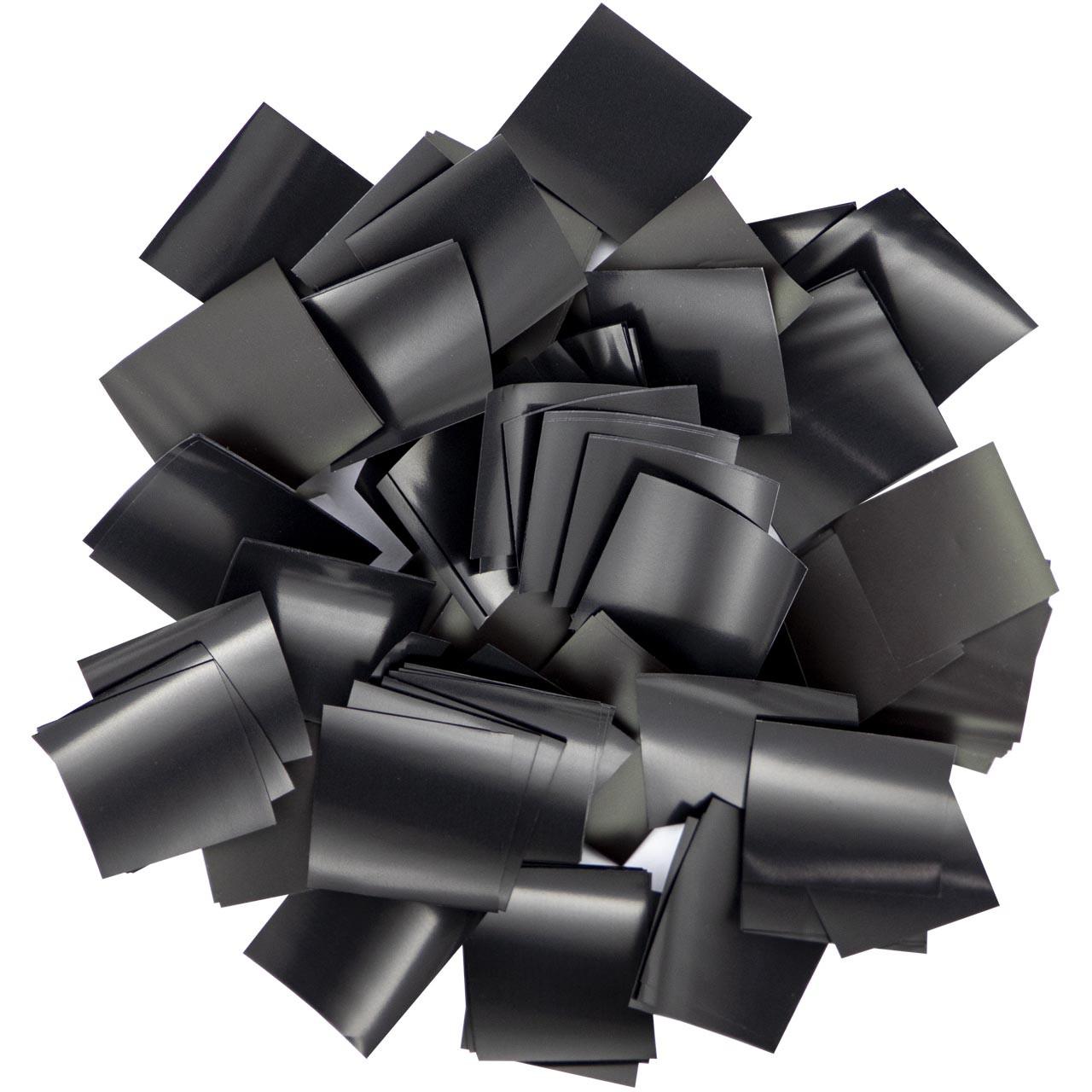 Конфетти-Метафан Черный Премиум 2х2 (пленочный) 1кг
