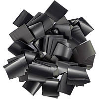 Конфетти-Метафан Черный Премиум 2х2 (пленочный) 1кг, фото 1