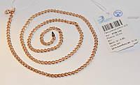 Серебряная Цепочка НОНА 925 пробы  с Позолотой 585 пробы