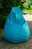 Кресло груша мешок бескаркасное кресло пуф L Оксфорд бирюзовый