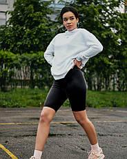 Велосипедки Женские спортивные шорты черные, фото 2