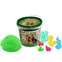 Кинетический песок Strateg Magic sand зеленого цвета, ведро 1 кг SKL11-237262
