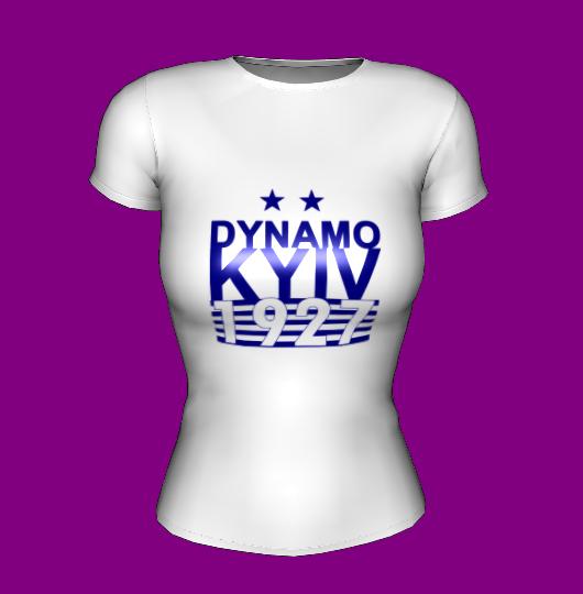 Футболка женская белая FC Dynamo 1927
