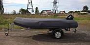 Оцинкованный одноосный прицеп для перевозки резиновых надувных (ПВХ) лодок до 3,6 м  Кияшко, фото 9