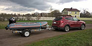 Оцинкованный одноосный прицеп для перевозки резиновых надувных (ПВХ) лодок до 3,6 м  Кияшко, фото 6