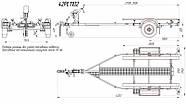 Оцинкованный одноосный прицеп для перевозки резиновых надувных (ПВХ) лодок до 3,6 м  Кияшко, фото 10