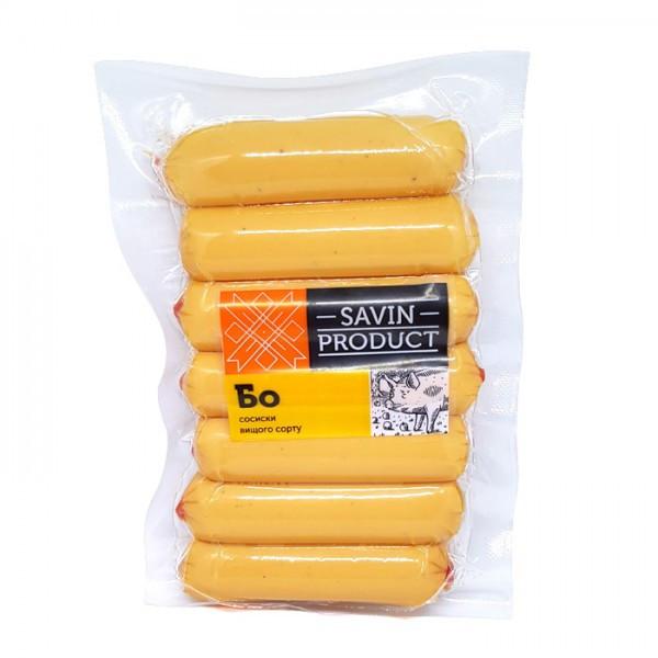 Сосиски БО высший сорт Савин продукт 1кг