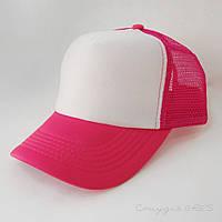 Женская розова кепка-тракер с сеткой