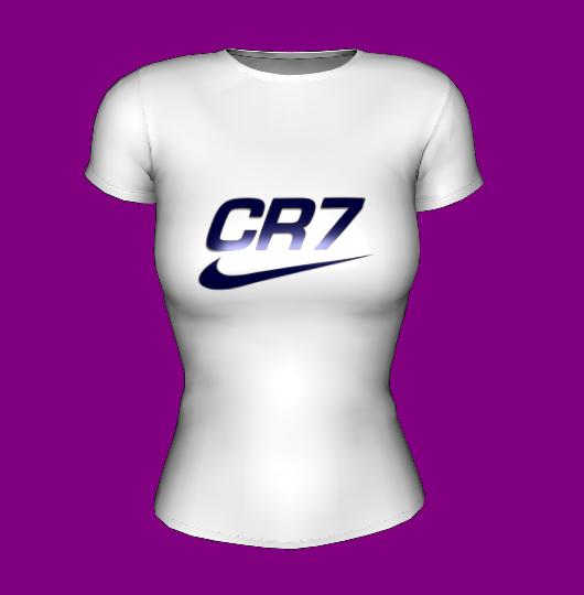 Футболка женская белая CR7